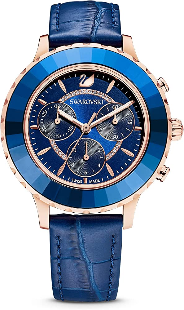 Swarovski octea lux - orologio da polso da donna con cinturino in pelle 5563480