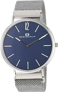 ساعة اوشينت للرجال ماجنيت كوارتز وبسوار ستانلس ستيل، فضي، 20 كاجوال (OC0102)