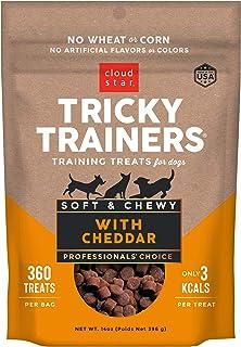 Cloud Star Tricky Trainers Chewy Dog Treats – Whole Grain Soft Training Treats, 14oz Cheddar