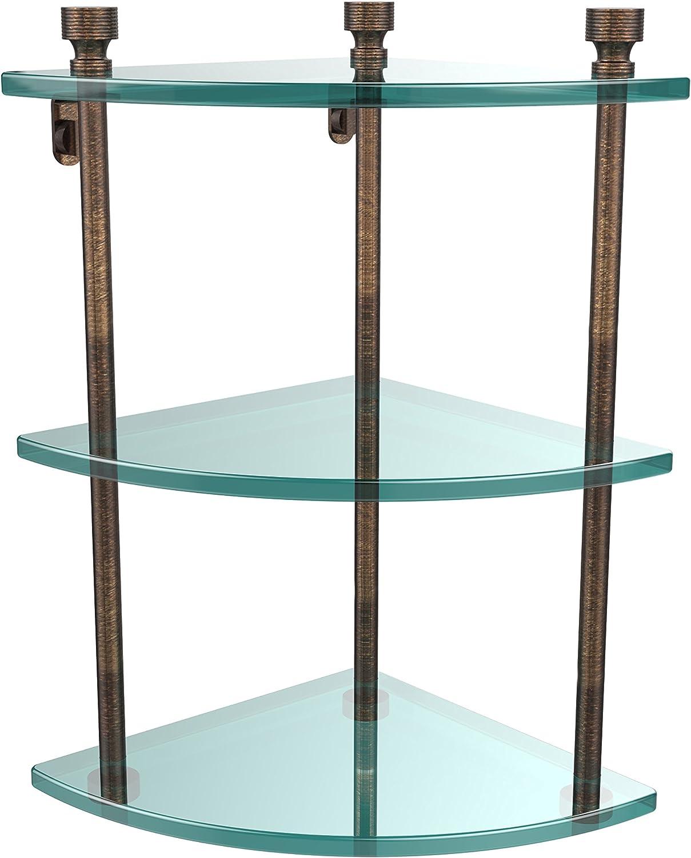 Allied Brass FT-6-VB Triple Corner Glass Shelf Venetian Bronze