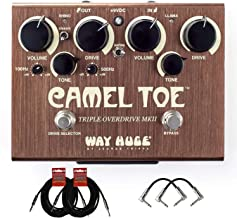 Dunlop WHE209 Way Huge Camel Toe MKII Triple Overdrive Pedal w/Patch Cables & Instrument Cable