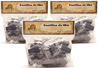 Lucia, Pastillas de Ube - Chewy Milk Candy with Purple Yam (Pack of 3), Imported from The Philippines, 4.75 oz (each)