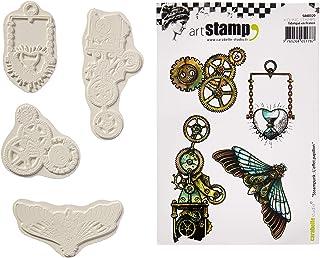 Carabelle Studio Fish Letters Cling Timbri Mini Bianco//Trasparente Gomma 5x6x1 cm