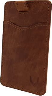 Pelle Toro Pull-Tab Leather Credit Card Holder Wallet for Men Women, Thin RFID Blocking Contactless Card Protector, Handma...