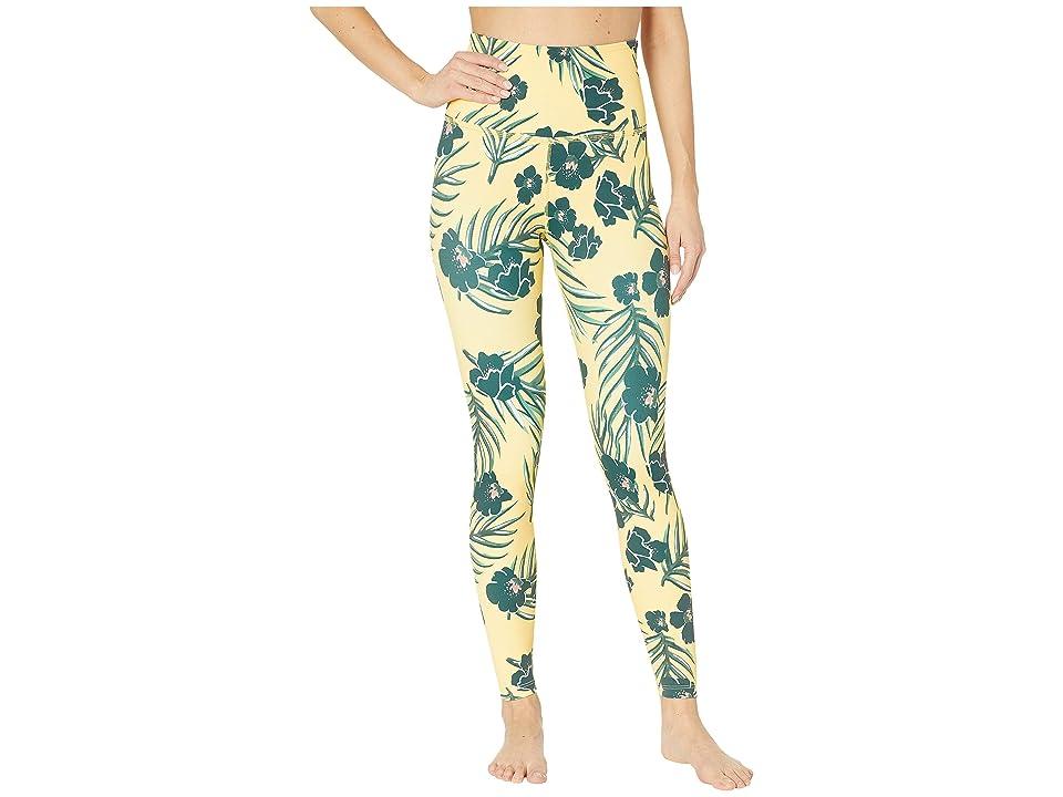 Beyond Yoga Olympus High-Waisted Midi Leggings (Floral Sunrise) Women