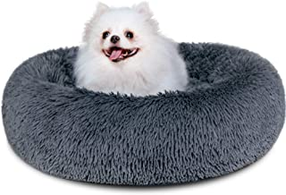 Dog Bed, Comfortable Round Donut Cuddler Pet Bed, Self-Warming Faux Fur Dog Cat Bed, Soft Plush Calming Bed for Small Dogs...