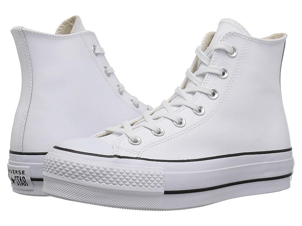 Converse Chuck Taylor All Star Lift Clean Hi (White/Black/White) Women