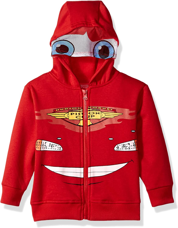 Disney Boys' Cars Fleece Masked Hoodie