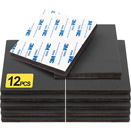 Evelots Furniture//Floor Protect Pad-Non Slip Rubber-3M Adhesive-NoScratch-Set//36