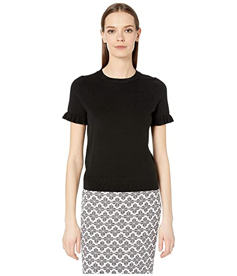 Kate Spade New York Ruffle Short Sleeve Sweater