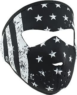 ZANheadgear unisex-adult Neoprene Black and White Flag Small Mask