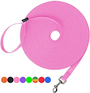 Hi Kiss Dog/Puppy Obedience Recall Training Agility Lead - 15ft 20ft 30ft 50ft 100ft Training Leash - Great for Training, ...