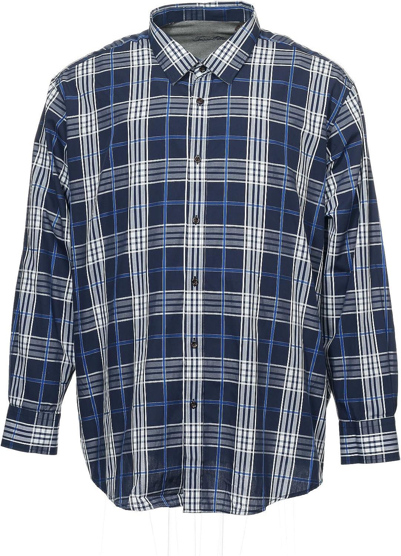 Tasso Elba Collezione Men's Blue Window Pane Button Down Shirt