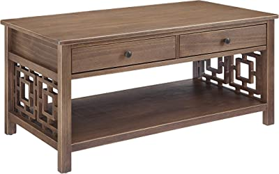 Linon Home Décor Shipley Rustic Brown Coffee Table
