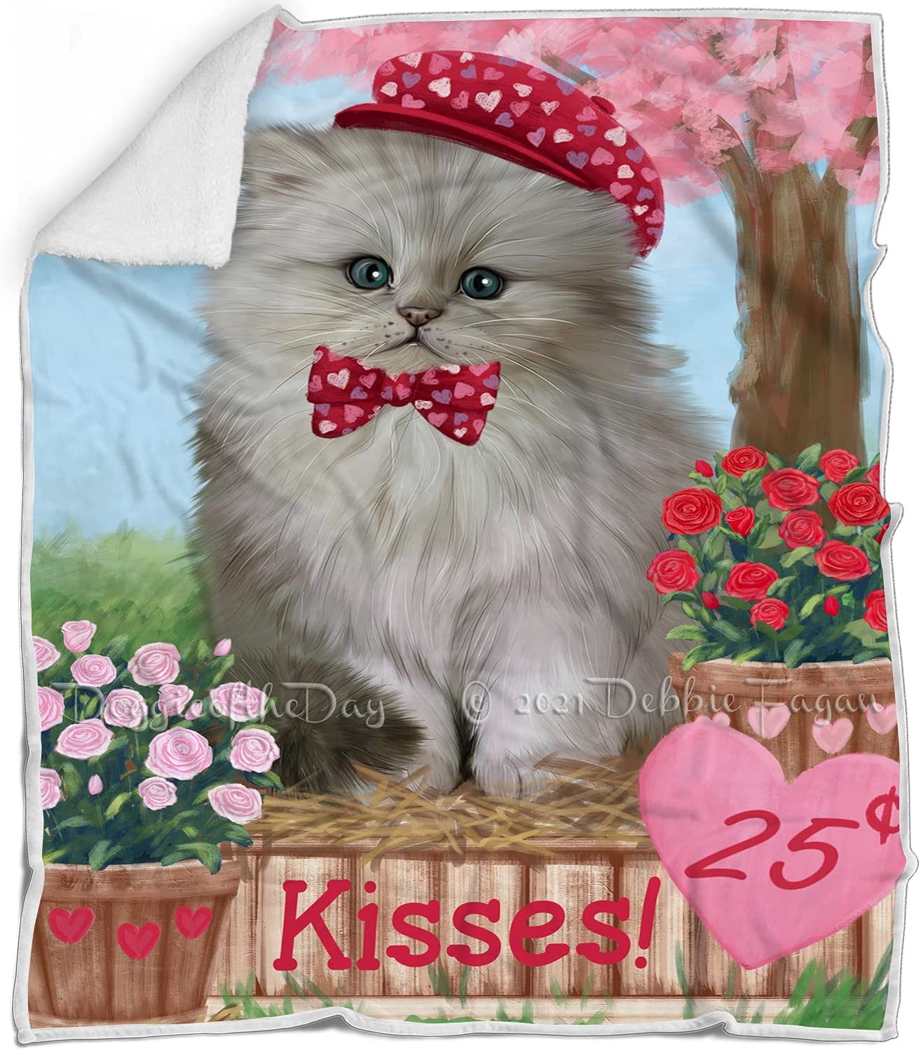 Selling and selling Rosie 25 Cent Kisses Persian Max 85% OFF Cat Blanket Multicolor War Fluffy -