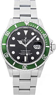 Rolex Submariner Mechanical (Automatic) Black Dial Mens Watch 16610LV (Certified Pre-Owned)