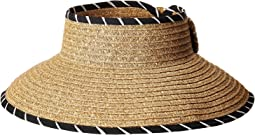 San Diego Hat Company - UBV041 Roll Up Visor with Whip Stitched Edges and A Bow Closure