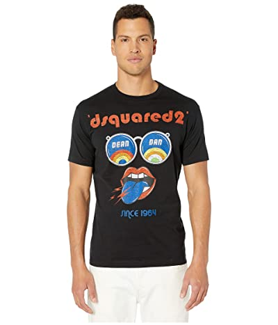 DSQUARED2 Sunglass Print T-Shirt (Black) Men