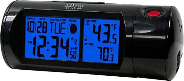 La Crosse Technology 616 143 Projection Alarm Clock With Backlight With In Out Temp