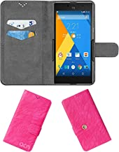 Acm Rotating Clip Flip Case Compatible with Yu Yuphoria Mobile Cover Stand Rose Pink