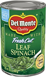 Del Monte Canned Fresh Cut Leaf Spinach, 13.5-Ounce