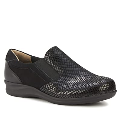Walking Cradles Cormick (Black Patent Snake/Nubuck/Leather) Women