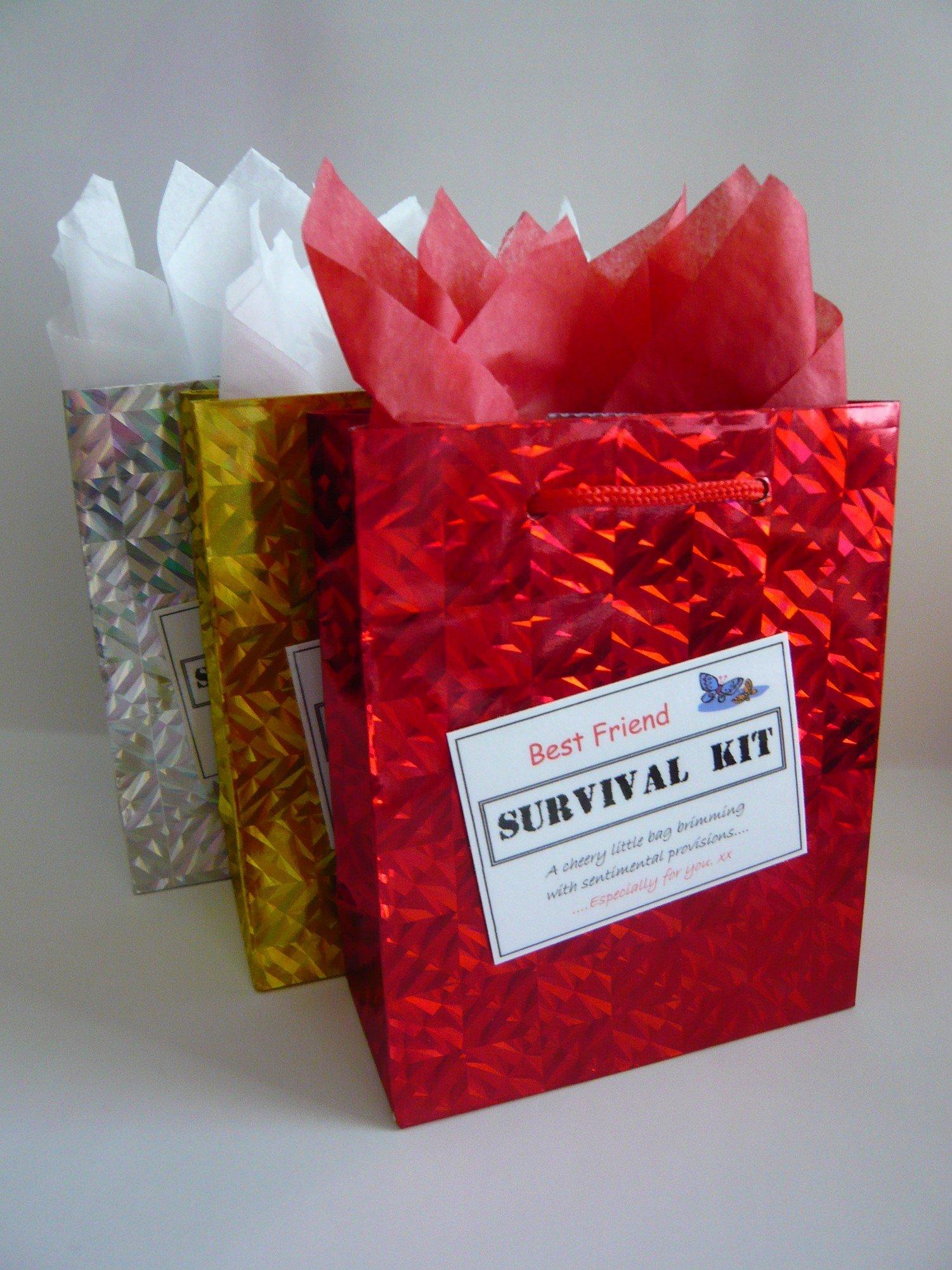 CHRISTMAS FRIEND Survival Kit large organza bag novelty gift