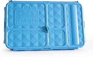 Go Green Lunch Box (Bento Style Lunch - Break - Snack Boxes) 3 Sizes with 4 or 5 Compartments LeakProof Technology with Si...