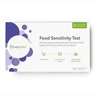 EverlyWell Food Sensitivity Testing Kit: at Home Test for Adults - Blood Test for 96 Common Sensitivities Including Dairy, Eggs, and Nuts - Not Available in NY, NJ, RI