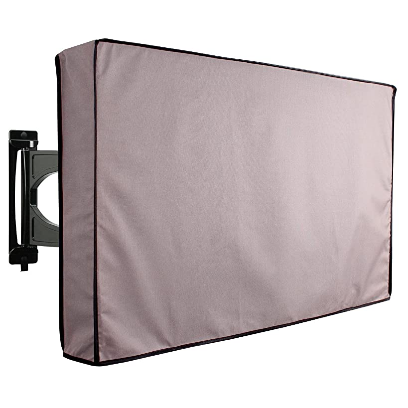KHOMO GEAR - Titan Series - Outdoor TV Cover Weatherproof Universal Protector for 40'' - 42'' LCD, LED, Television Sets - Works  with Most  Mounts & Stands. Built in Remote Controller Storage - Gray