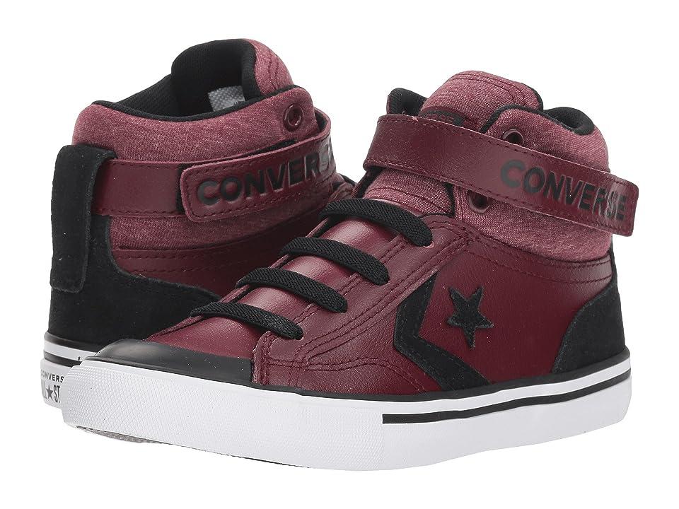 Converse Kids Pro Blaze Strap Hi (Little Kid/Big Kid) (Dark Burgundy/Black/White) Boys Shoes