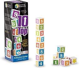 Learning Resources- Juego de números Ten to The Top, Multicolor (LER1767)