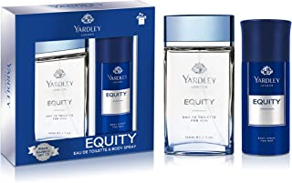 Yardley Equity perfumed gift set, fresh inviting fragrance, all-day long, Eau de Toilette 100ml + Body Spray 150 ml