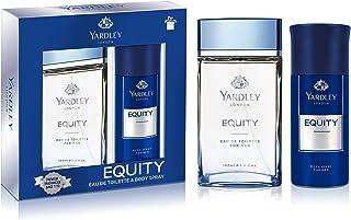 YARDLEY Equity perfumed gift set, fresh inviting fragrance, all-day long, Eau de Toilette 100ml + Body Spray 150 ml