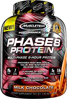 Whey Protein Powder, MuscleTech Phase8 Protein Powder, Whey & Casein Protein Powder Blend, Slow Release 8-Hour Protein Sha...