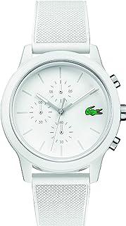 Lacoste Men's TR90 Quartz Watch with Rubber Strap, White, 21 (Model: 2010974)