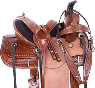 Acerugs Youth Children Roping Ranch Work Roper Horse Pony Leather Saddle TACK Set Western Pleasure