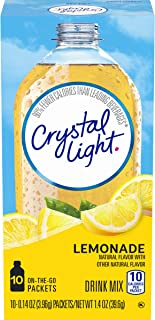 Sponsored Ad - Crystal Light Sugar-Free Lemonade Drink Mix (120 On-the-Go Packets, 12 Packs of 10)