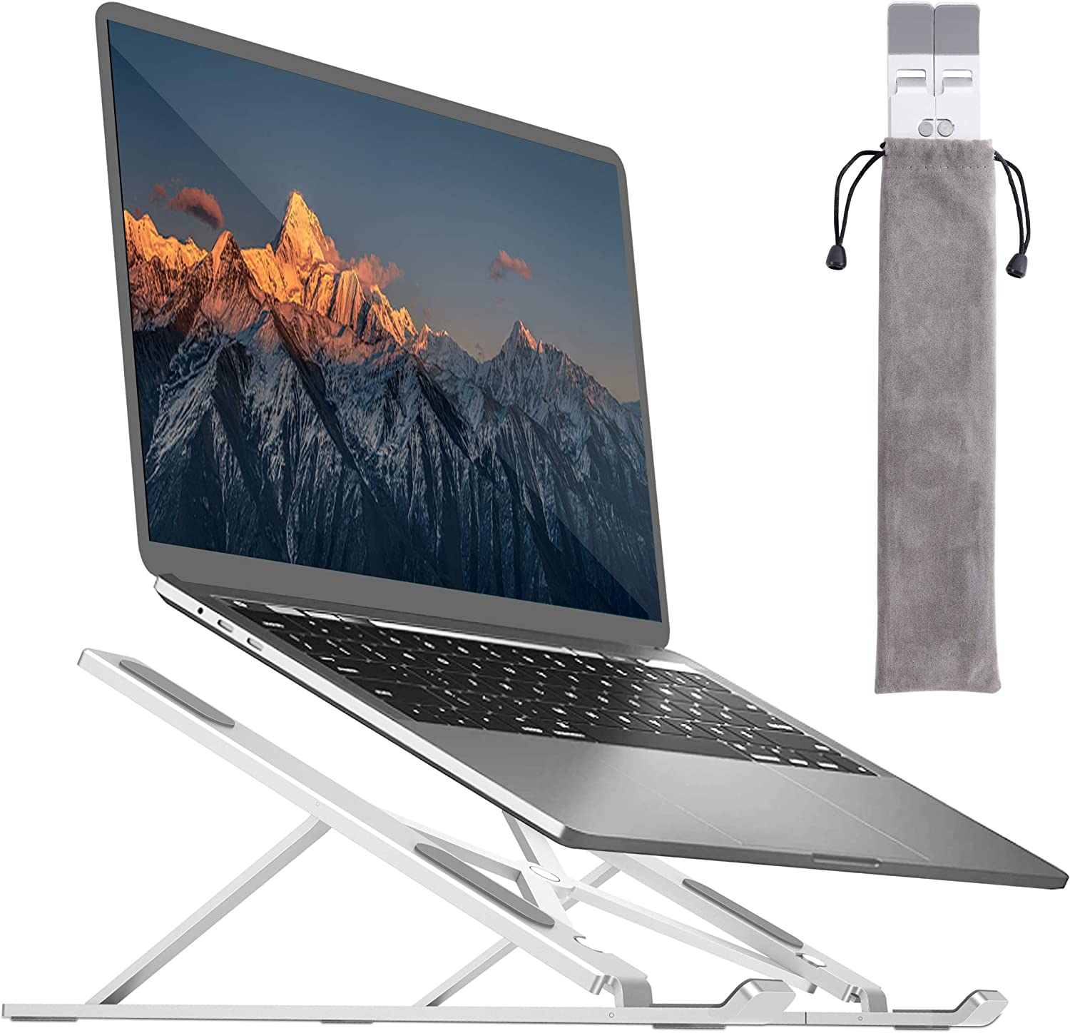 """BY4U  7-17""""  Aluminum Portable Laptop Stand $7.65 Coupon"""