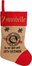 The Christmas Cart Personalised Gifts & Keepsakes Personalised Jumbo Burlap Stocking | Fun Christmas Décor to Display on M...