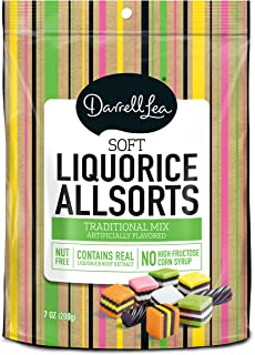 Soft Australian Licorice Allsorts - Darrell Lea 7oz Bag - NON-GMO & NO HFCS - America's #1 Soft Eating Licorice Brand!