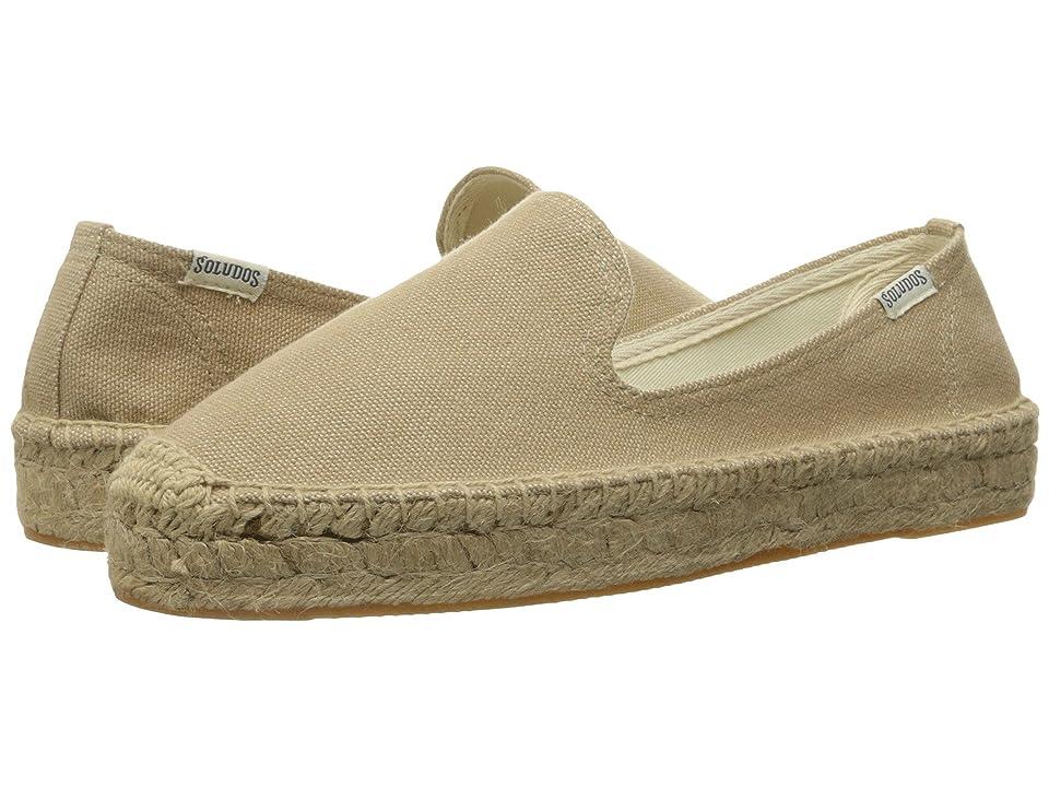 Soludos Platform Smoking Slipper (Safari) Women's Slip on  Shoes