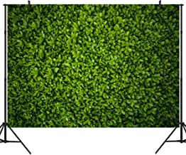 Duluda 9X6FT Green Leaves Wall Backdrop for Photography Grass Floordrop Picture Background Spring Birthday Party Ground Decor Outdoorsy Newborn Baby Bridal Shower Wedding Photo Studio Booth TG08B