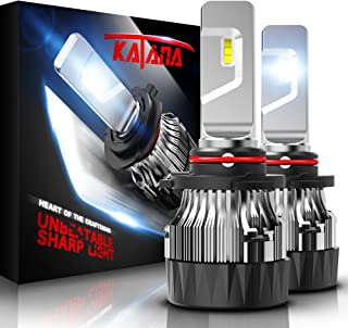 KATANA 9005 LED Headlight Bulbs w/Mini Design,4700Lux 10000LM 6500K Cool White CREE Chips Hb3 All-in-One Conversion Kit