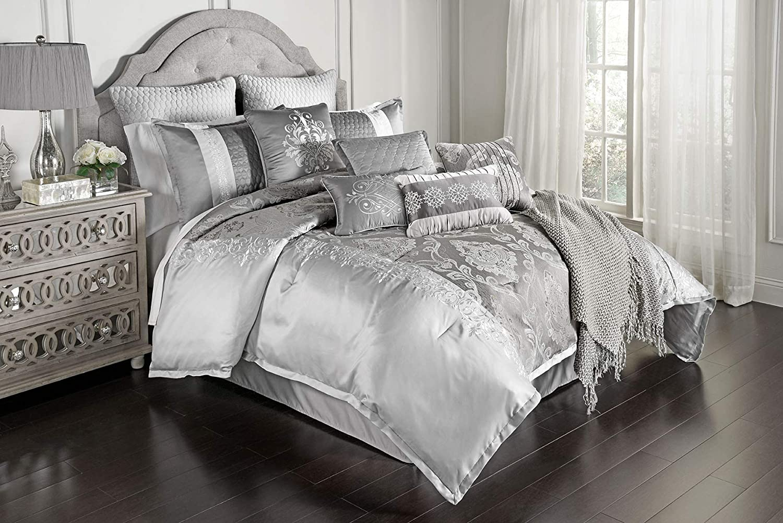 Riverbrook Home 7000 Selling Chicago Mall rankings 12-Piece King Set Kacee-Platinu Comforter
