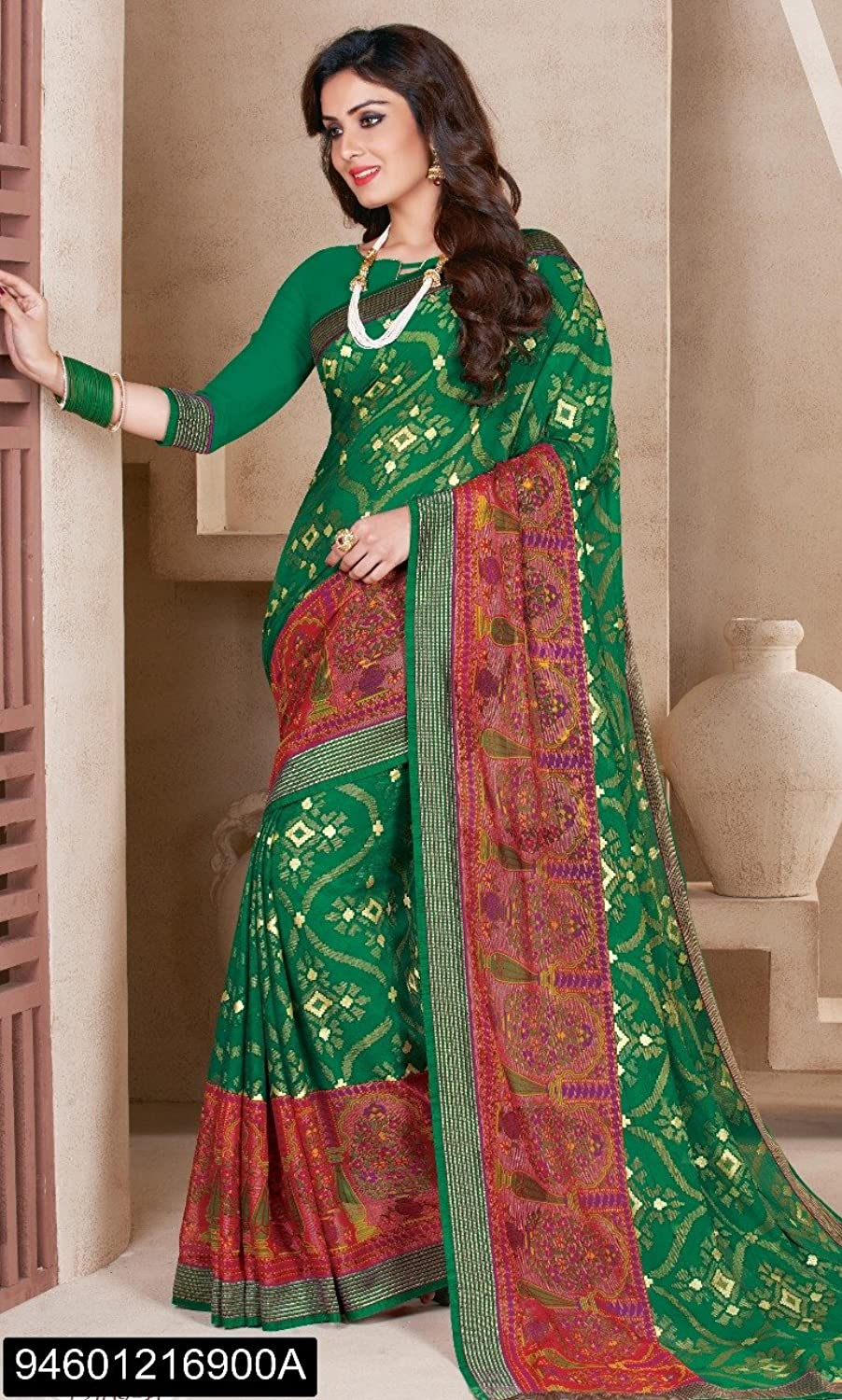 Designer Bollywood Saree Sari for Women Latest Indian Ethnic Collection Casual Wear Festive Ceremony 2694 21