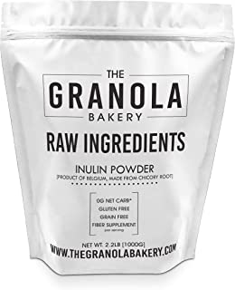 Bulk Inulin Powder (2.2LB) - Natural Chicory Root Fiber   Soluble Prebiotic High Fiber Supplement for Intestinal Support   Non GMO, Gluten Free (Imported from Europe)