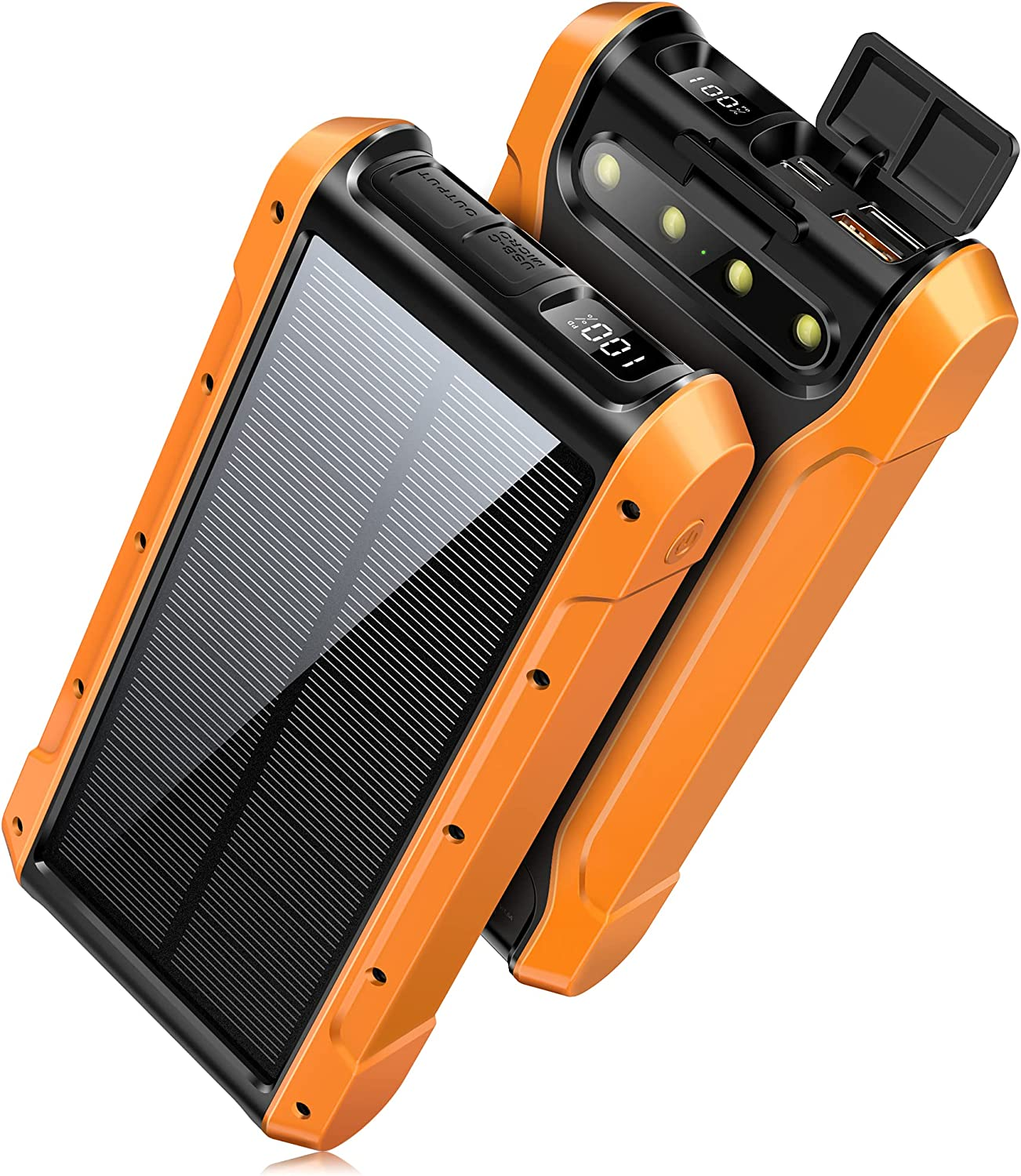 Solar Charger, 30000mAh PD 25W QC3.0 Quick Charge Wireless Power Bank...