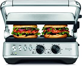 Sage Appliances SGR700, the BBQ and Press Grill, Brushed Stainless Steel
