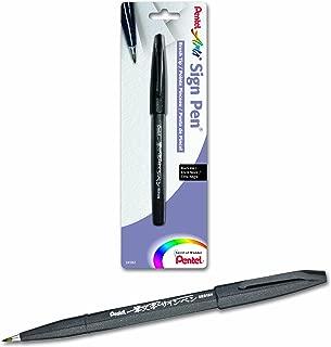 Pentel Arts Sign Pen Touch, Fude Brush Tip, Black Ink - 1 Pack (SES15NBPA)